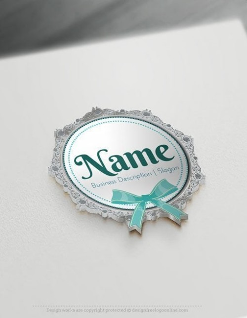 Create Cool Logo Ideas with Baby lace frame Logo Templates