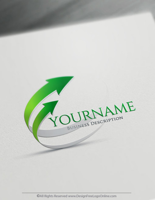 Make your own green arrows logo online with the 3D logo maker. Finance logos