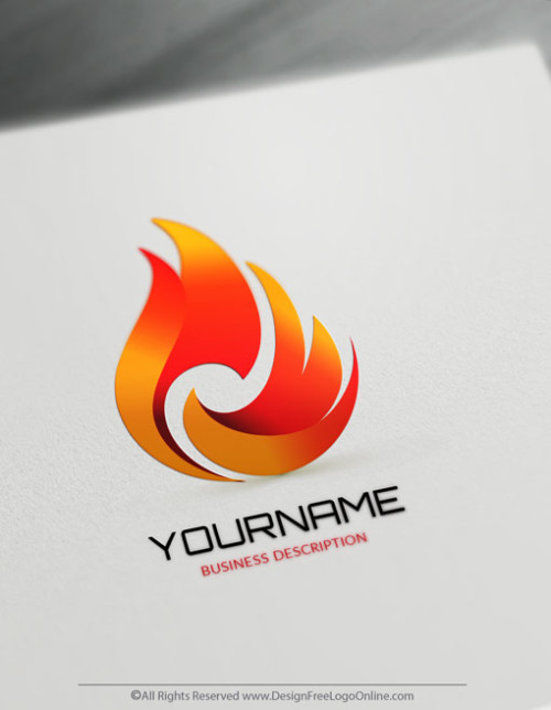 Free Fire Logo Maker - Flames Logo Design Template