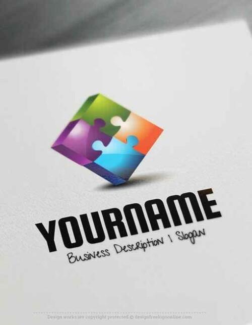 free logo maker Puzzle Logo Templates