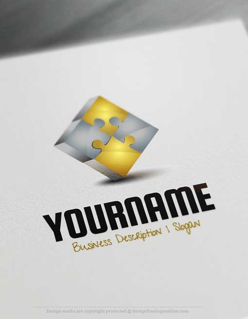 Design Free Logo: Puzzle Online Logo Template