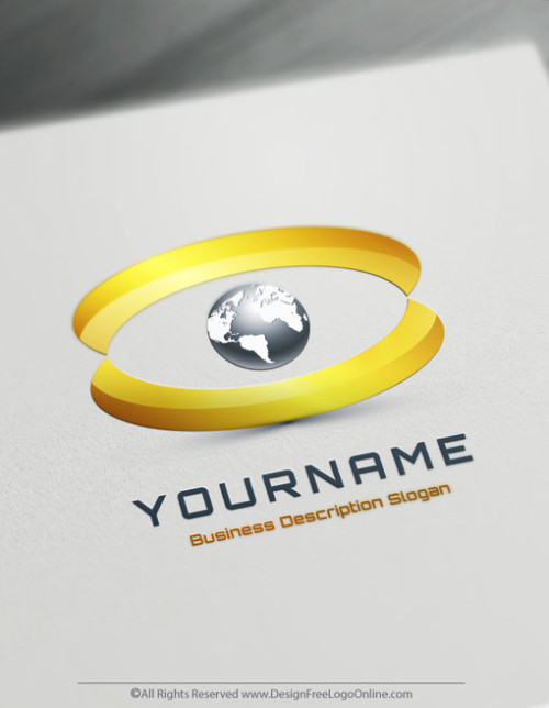luxury Eye Globe Logo Maker Design