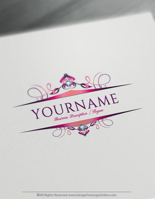 Design your own hot pink frame Logo by using the Diamond logo maker