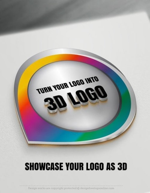 3d logo mockup display