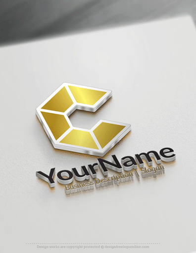 Hexagon logo gold colors