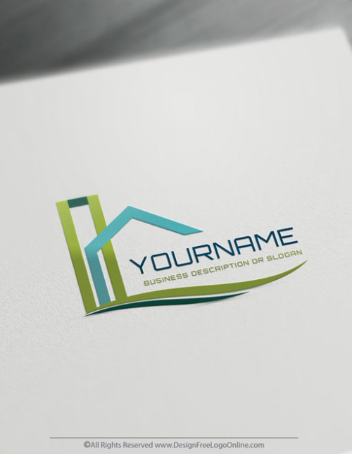 modern green Building Real Estate logo