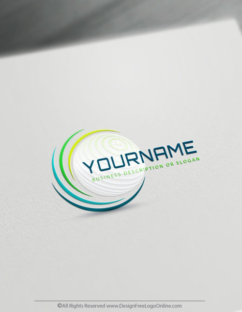 Make a 3D logo free and without registra