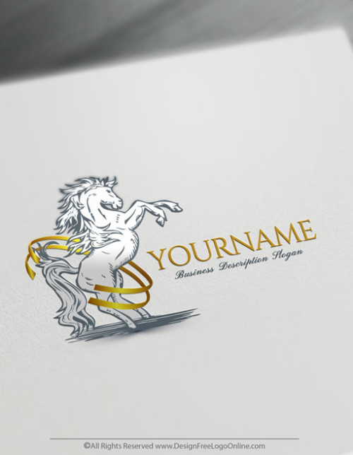 powerful horse logo maker