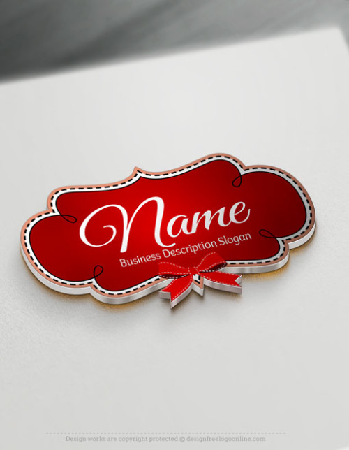 Design a logo online using Red Frame Bow Logo Template