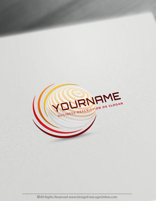 Design Free Modern Logos Online Using 3D Globe Template