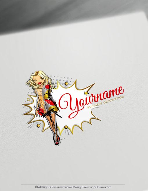 sexy woman logo design