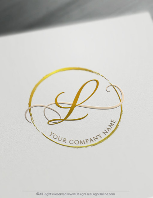create your own gold Signature logo online