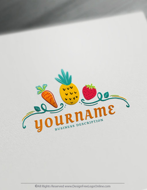 Use our online logo maker to create your own Vegetables & fruit logo design free