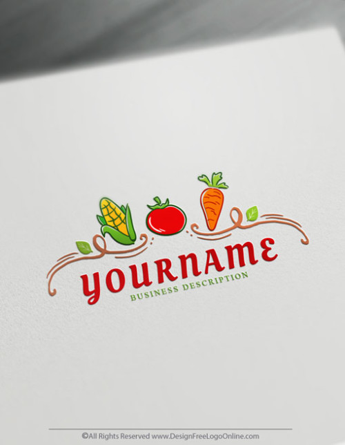 Use our online logo maker to create your own Vegetables logo design free