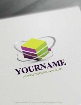 Design Free Logo: 3D Cube Molecule Logo Template