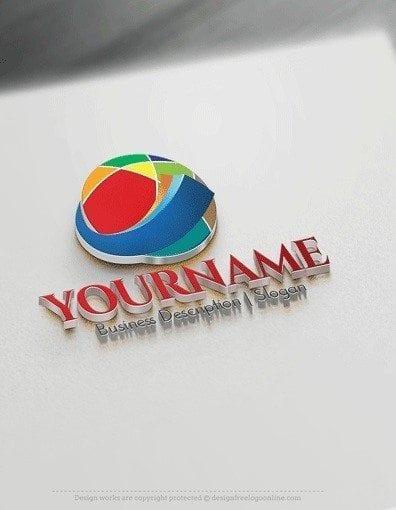 Design Free Logo 3d Colour Sphere Online Logo Template