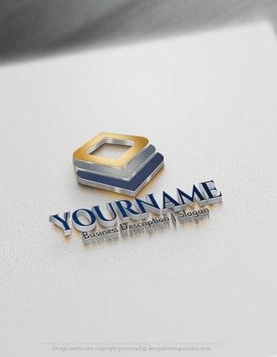 Squares logo design 3D Logo Maker