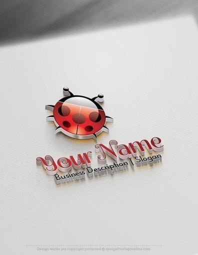 Create your own Ladybird Logo design ideas using the logo maker. Get your new ladybug Logo Design instantly!