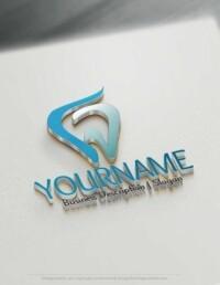 Design Free Logo: Dental Tooth Online Logo Template