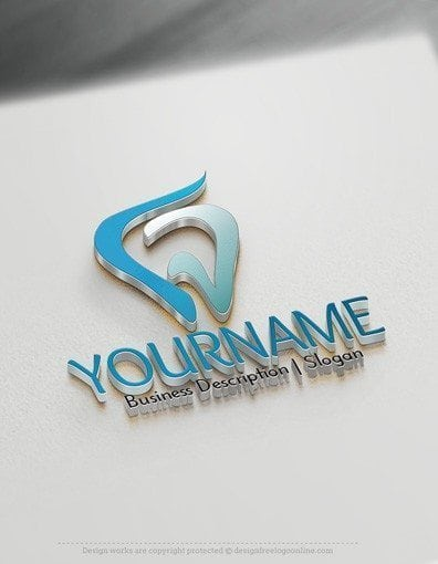 Design Free Logo: Dental Tooth Online Logo Template