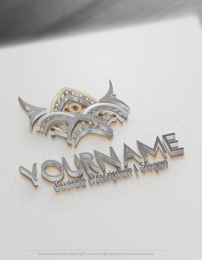 00554-3d-Fashion-Crest-logo-design-free-logos-online-03