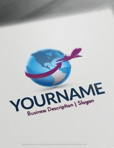 Design free logo globe travel online logo template for Design a plane online