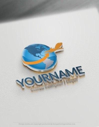 00556-3D-Globe-Plane-logo-design-free-logos-online-03