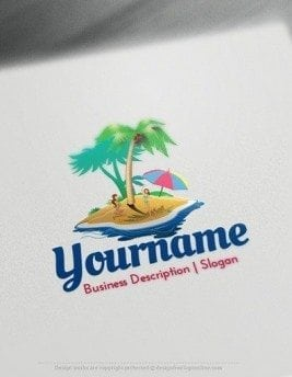 Design Free Logo: Get your new Island Style Logo Template instantly! Creating Island Style logos with our Free Logo Maker is fast and easy.