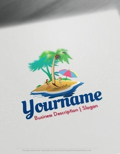 Design Free Travel Logo Online - Island Logo Template