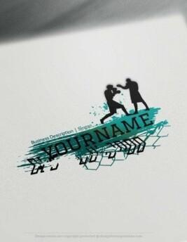 Design Free Logo online: Boxing Sport Logo Template