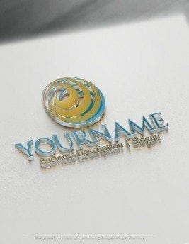 00566-3d-3D-Spiral-Globe-logo-design-free-logos-online-01