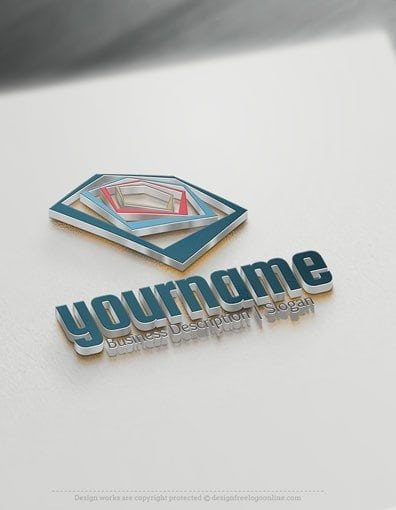 00568-3D-Colour-polygon-Globe-logo-design-free-logos-online-01