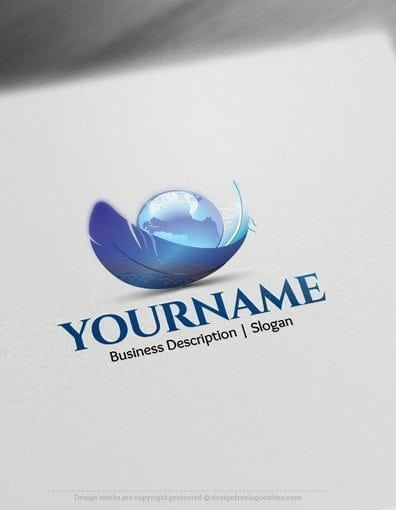 Use the best 3D logo maker to customize your new brand with our original 3D Earth logo template