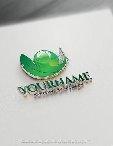 00571-3D-Leaf-and-Globe-logo-design-free-logos-online-01