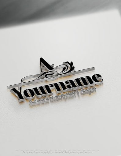 Design Free Logo: Initial Classic Logo Template