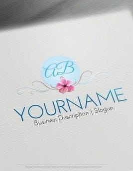 00575-2D-Initials-and-flower-design-free-logos-online-01