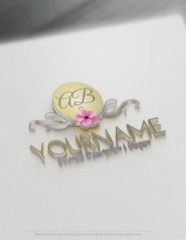 00575-3D-Initials-and-flower-design-free-logos-online-01