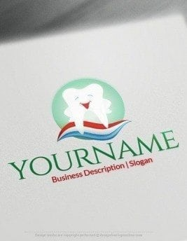 00579 2D Dental design free logos online-02