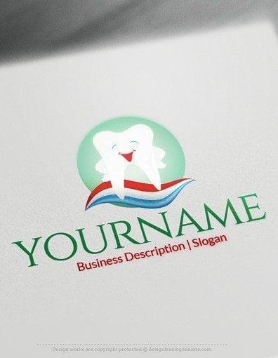 00579 2D Dental design free logos online-02