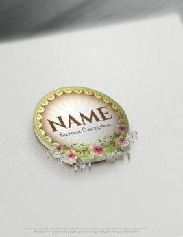 00582-3D-Flower-Frame-design-free-logos-online-01