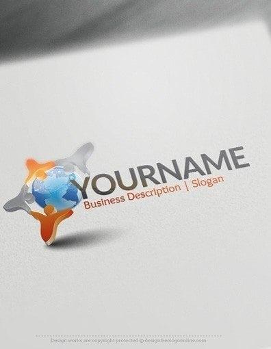 00583-2D-People-Globe-logo-design-free-logos-online-01