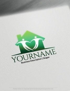 00587-2D-Heart-house-design-free-logos-online-01