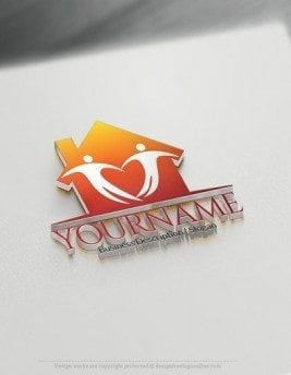 Design Free Logo Online House Real Estate logo