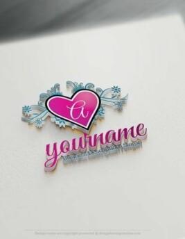 00591-3d-Heart-Initial-design-free-logos-online-01