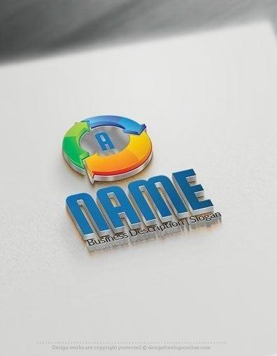 00593-3DArrow Initial design free logos online-01