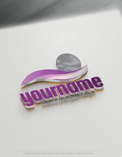 00594-3D-Ball wave design free logos online-01
