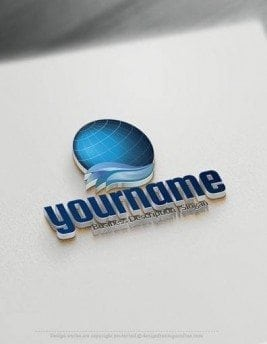 Globe Wave online Logo Template