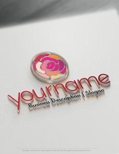 Design Free Logo Maker - Fashion Flower Logo Template