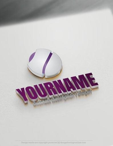 Free Logo Creator: 3D round Logo Template