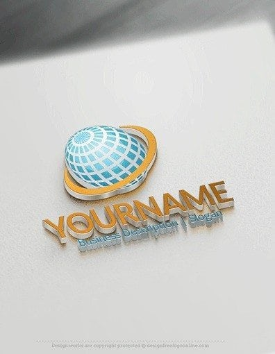 00603-3D-Retro-globe-and-band-logo-design-free-logos-online-01